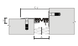 Монтаж накладного углового профиля для деформационного шва