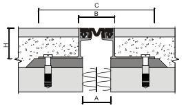 Монтаж профиля для деформационного шва ДШВ