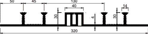 Гидрошпонка ТПО ДОМ-320/50