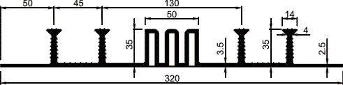 Гидрошпонка ПВХ ДОМ-320/50
