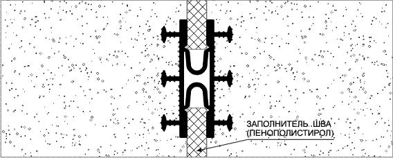 Монтаж профиля гидроизоляционного  тип ТАРАКАН
